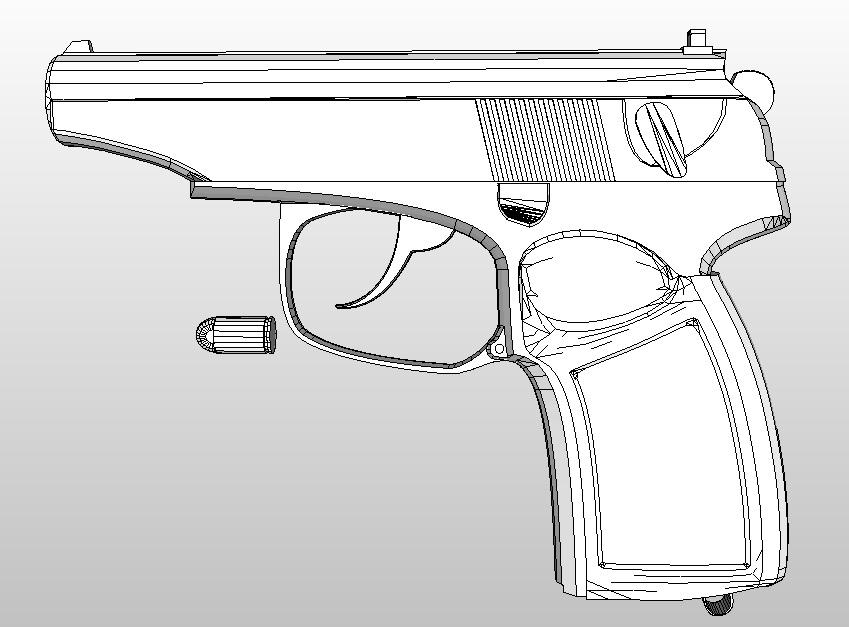 Скачать шаблон пистолета макарова